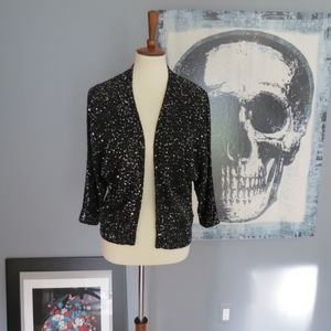 Express black and silver sequin sweater
